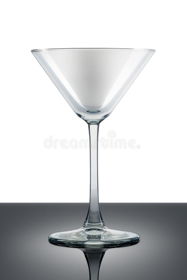 Empty martini glass isolated on white royalty free stock photo