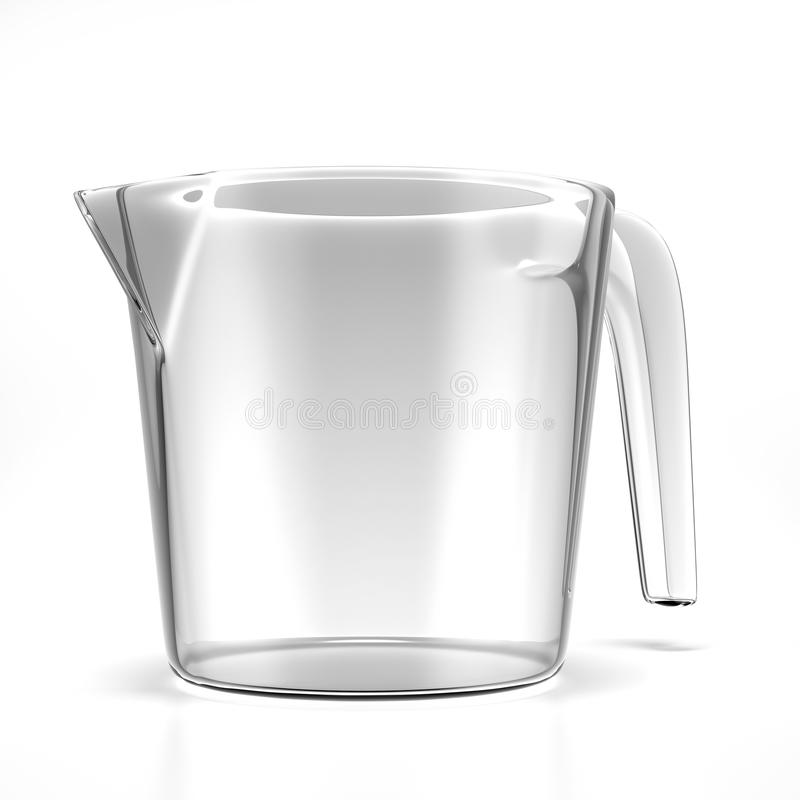Empty measuring cup royalty free illustration