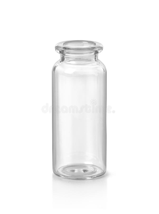 Empty medical glass bottle royalty free stock images