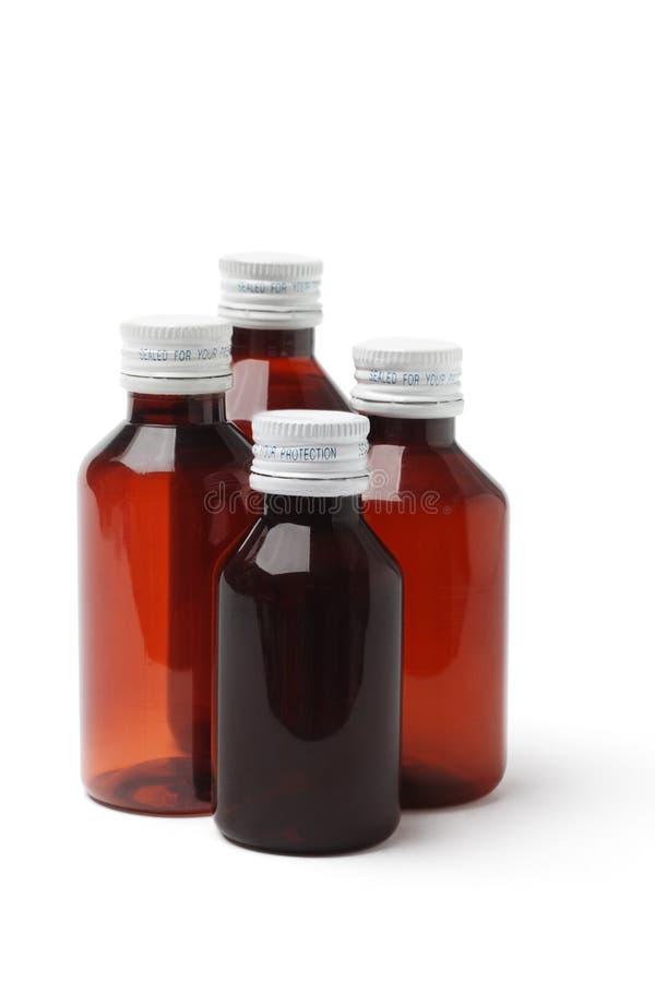 Empty Medicine Bottles Stock Photo