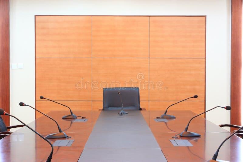 Empty meeting room stock image
