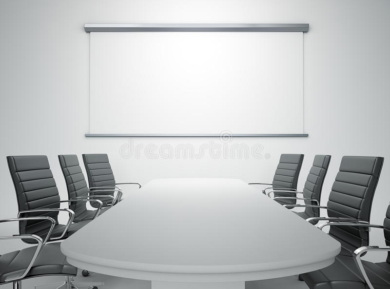 Empty meeting room. An empty meeting room and conference table