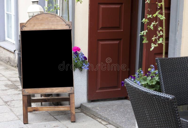 Empty menu blackboard to ad text royalty free stock image