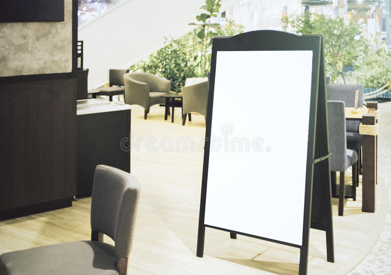 Empty menu board royalty free stock images