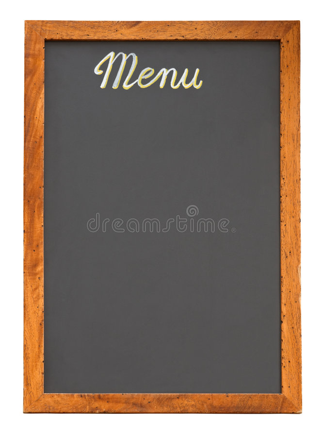Free Empty Menu Board Cutout Royalty Free Stock Photography - 5496997