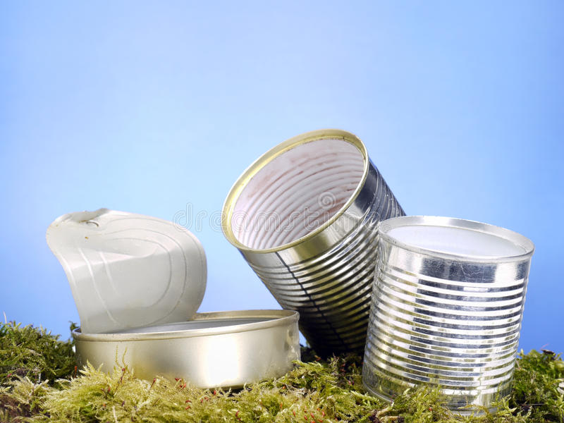 Download Empty Metal Cans In The Grass Stock Image - Image: 23876395
