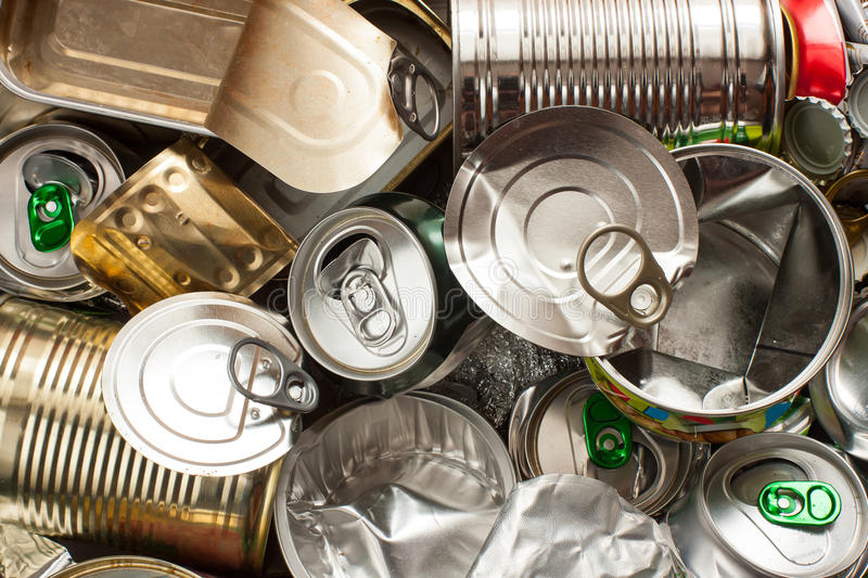 Empty Metal Cans Royalty Free Stock Images
