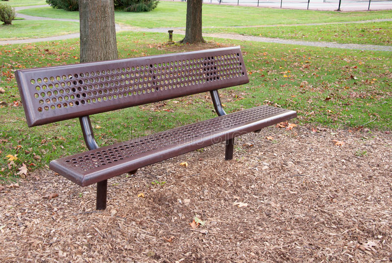 Empty Metal Park Bench Royalty Free Stock Photo Image 16914905