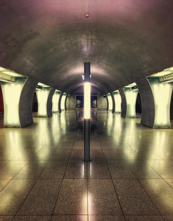 empty metro station in Budapest royalty free stock photography