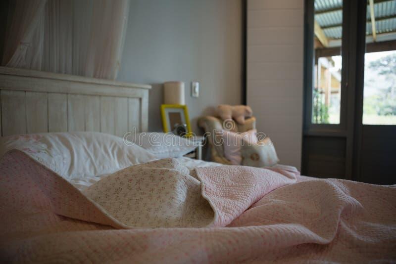 Empty modern bedroom stock photography