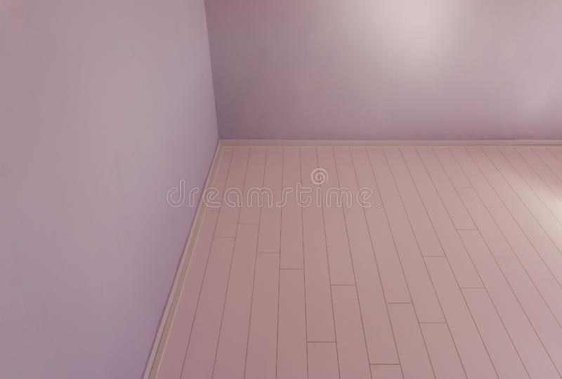 Empty modern chamber room with nothing inside designed in modern stylish colors pink and purple background stock image