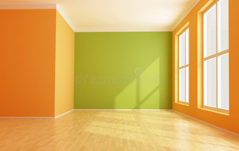 Empty modern interior stock illustration