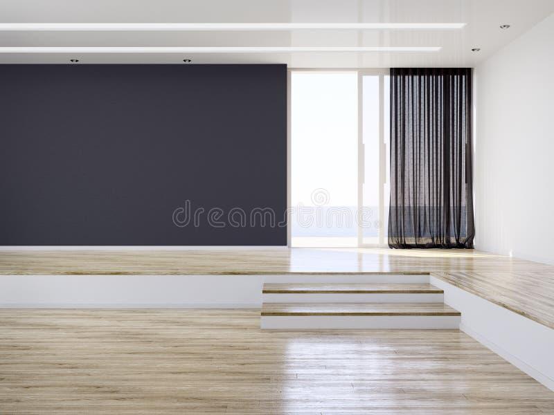 Empty Modern Interior Room royalty free stock photography