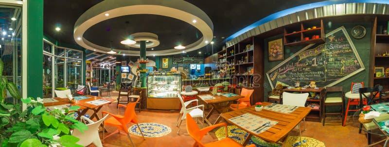 Empty modern restaurant. In resort ,Thailand stock photography