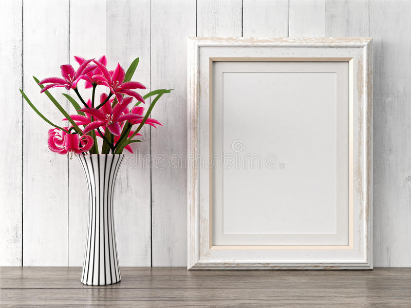 Download Empty Modern Style Frame, 3D Render Stock Photo - Image of interior, paper: 65583840