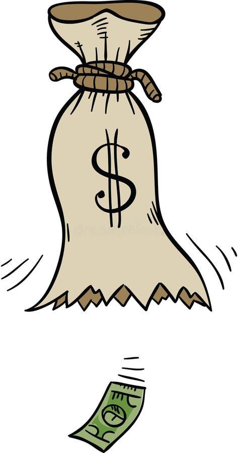 empty money bag stock illustration illustration of empty 41194546 rh dreamstime com