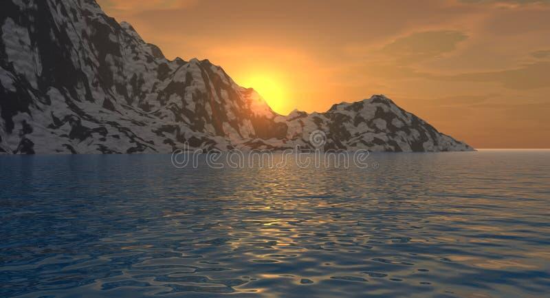 Empty_Mount_Sunset royalty illustrazione gratis