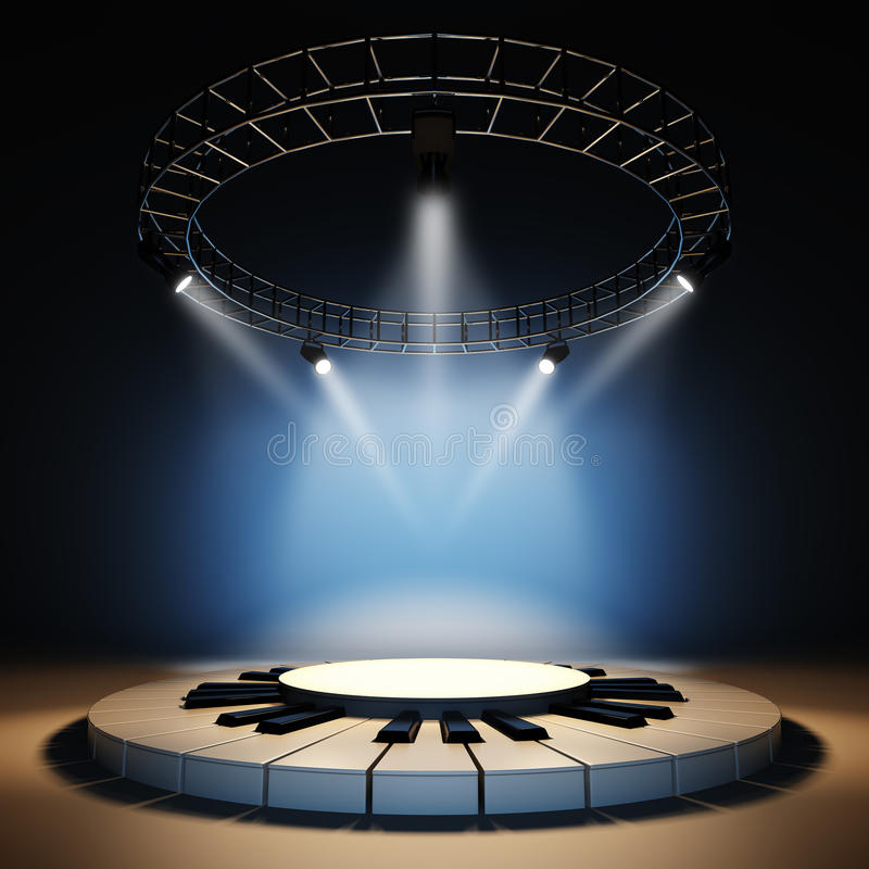 Free Empty Music Stage. Stock Photography - 48931002