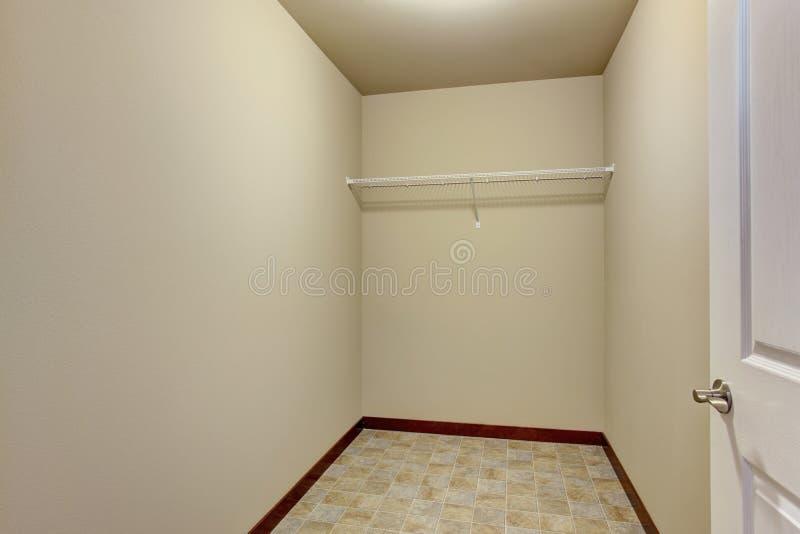 empty walk in closet. Download Empty Narrow Walk-in Closet With Shelves Stock Photo - Image Of Shelves, Walk In W