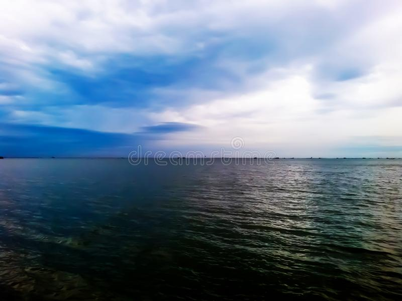 Empty natural blue sea view royalty free stock photography