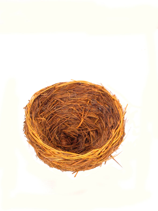 Download Empty Nest over white stock image. Image of away, bird - 161603