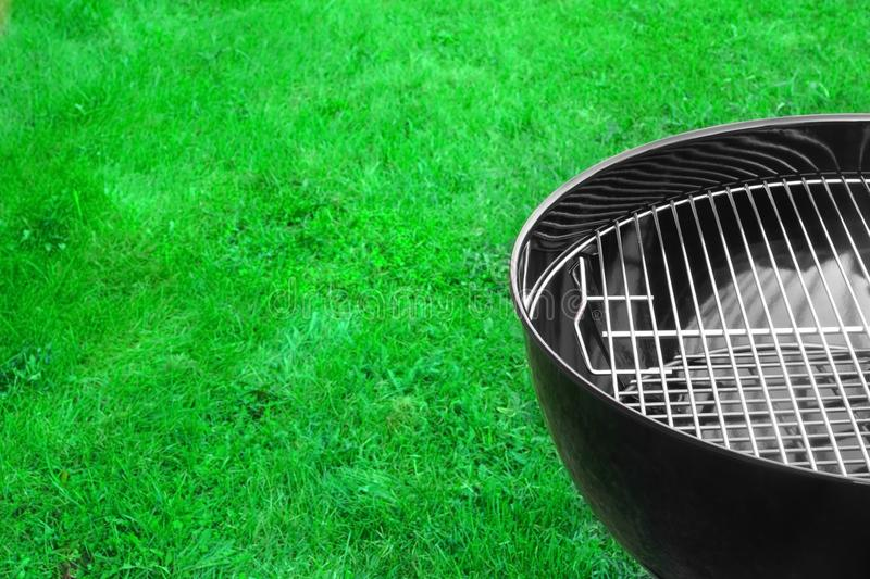 Empty New Clean BBQ Grill Close-up royalty free stock photo