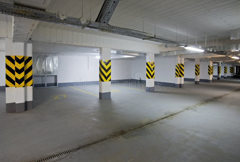 Download Empty new garage stock photo. Image of real, view, rubber - 8874952