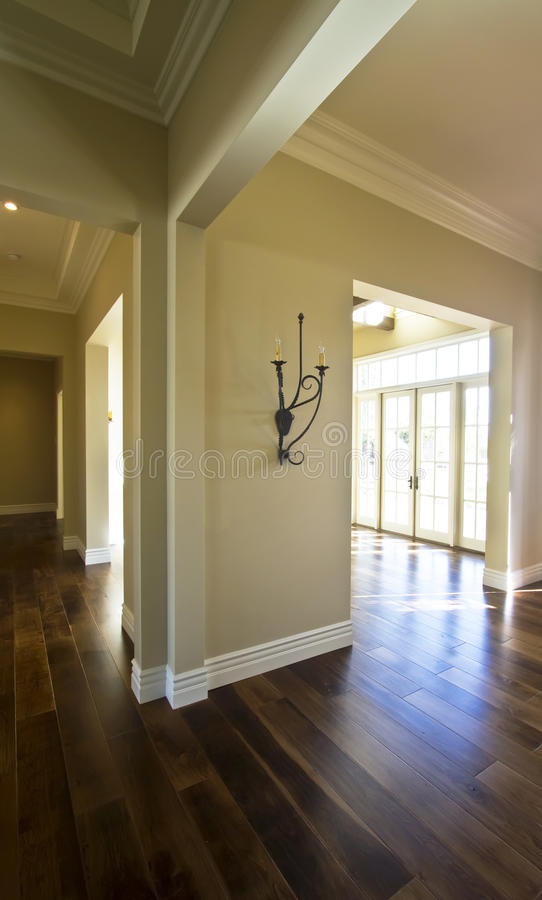 Empty new modern home for sale stock photos