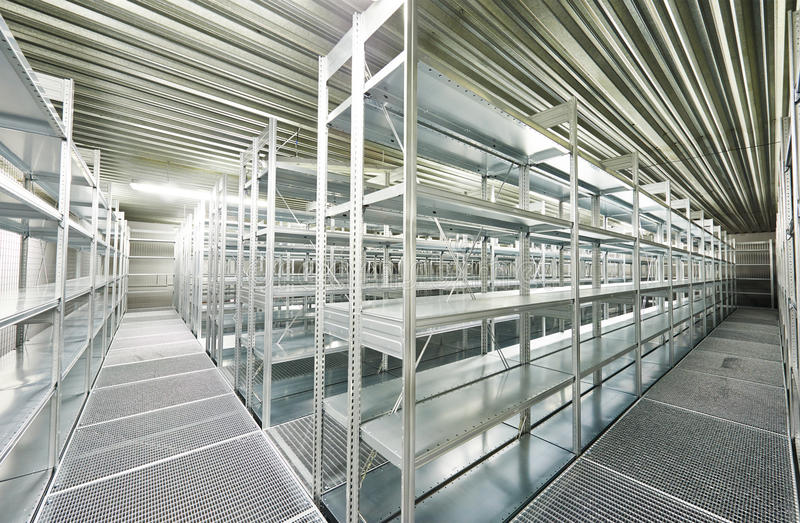 empty new modern shelves in warehouse stock photo image of freight