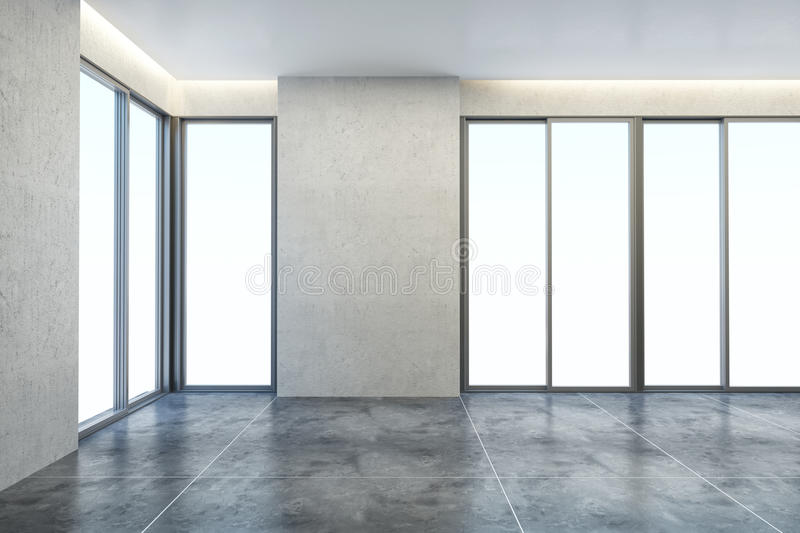 Empty new office room royalty free stock photography