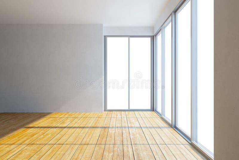 Empty new office room vector illustration