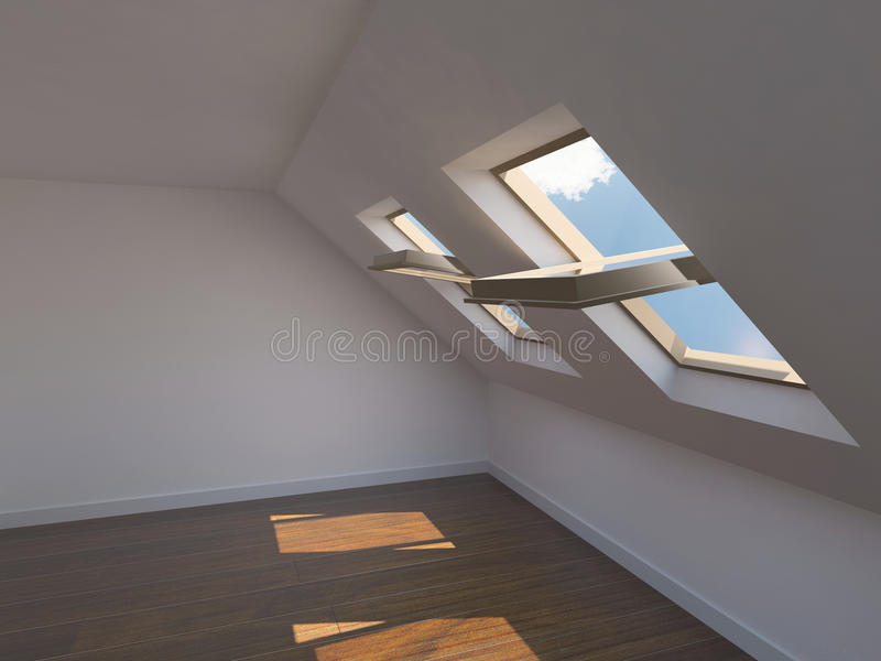 Empty new room royalty free stock image