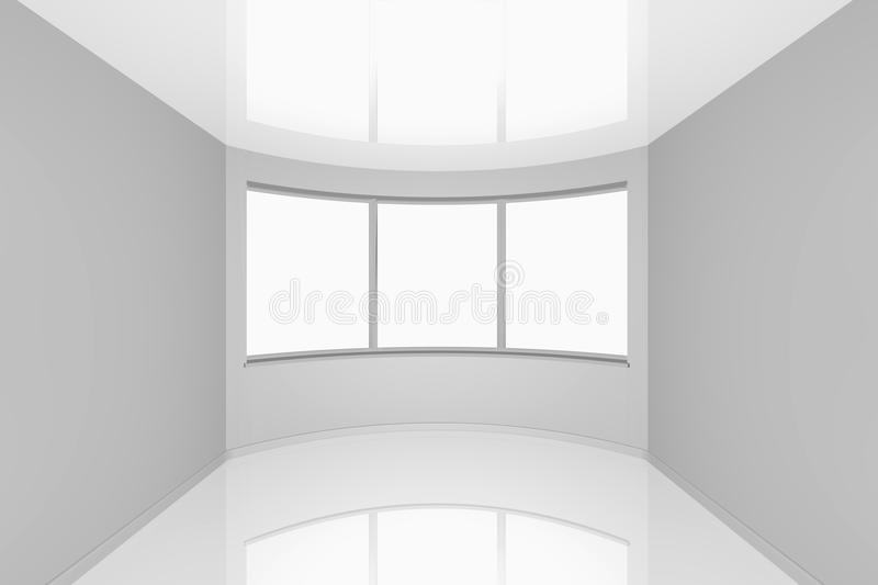 Empty New Room With A Bay Window Royalty Free Stock Photos