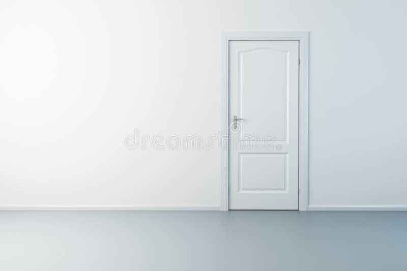 Empty new room with door royalty free illustration