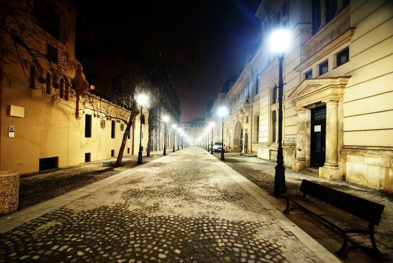 Download Empty Night Street In Bucharest Stock Image - Image: 23248261