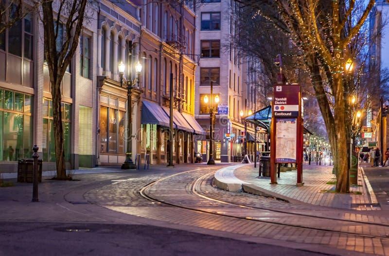 Empty Night Street royalty free stock photography