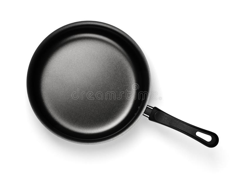 Empty nonstick frying pan royalty free stock image