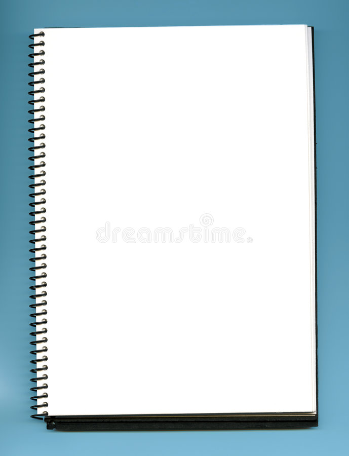 Empty notebook. Open blank and empty notebook stock image
