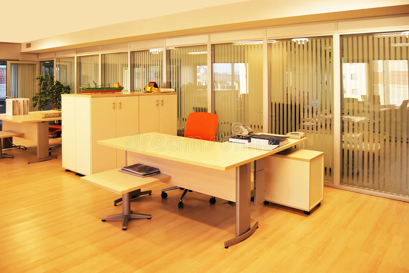 Download Empty office stock image. Image of decorate, desk, ceiling - 12436835