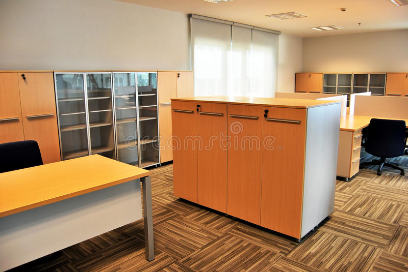 Empty office. S and empty tables stock image