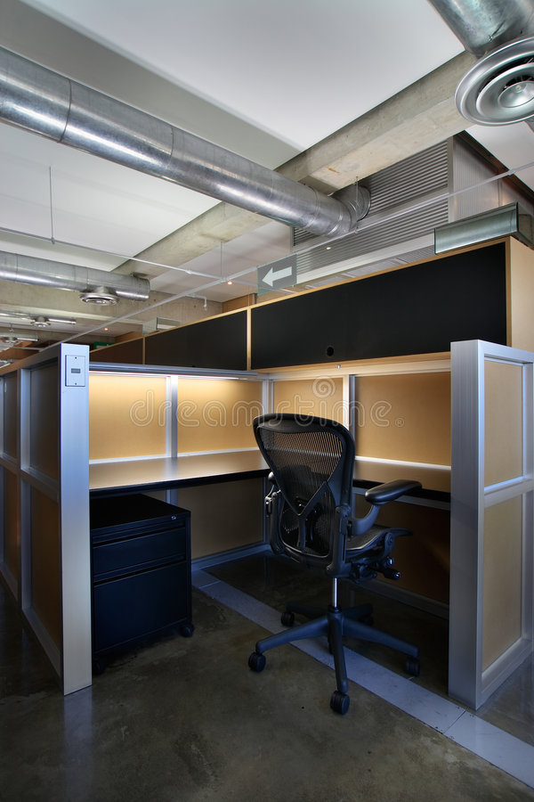 Download Empty office cubicle stock photo. Image of cubicle, preparation - 2590086