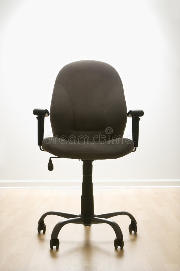 Empty office desk chair. stock images