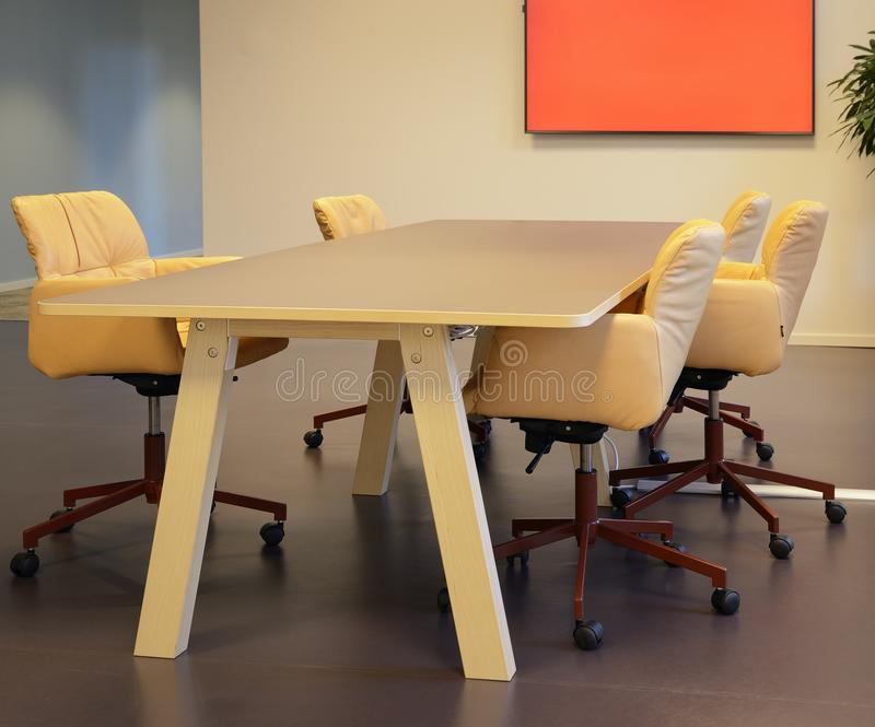 Empty Office Interior With Chairs royalty free stock images