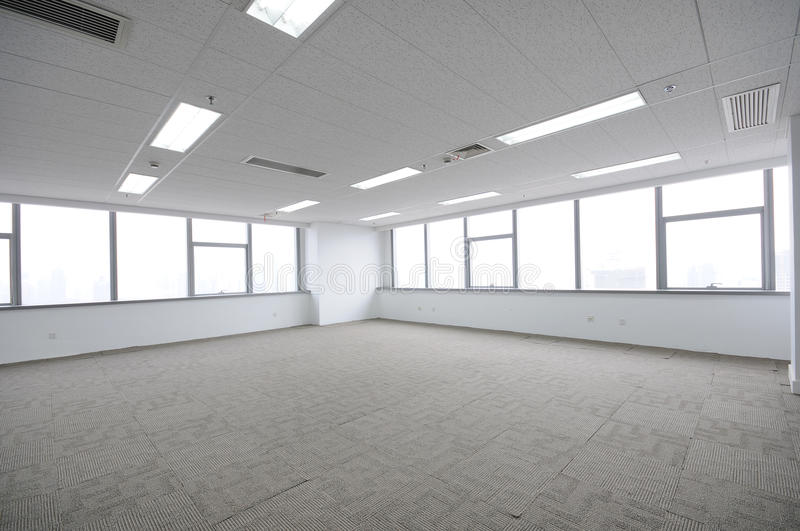 Empty office room stock photography