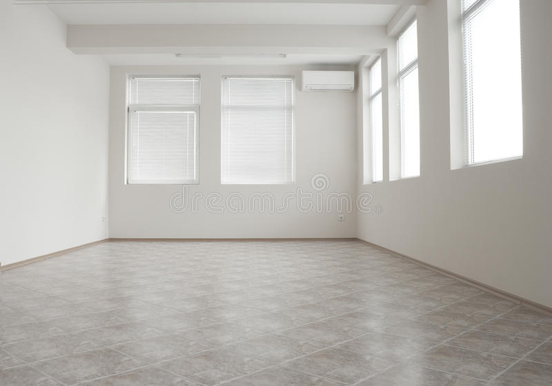 Empty Office Room With Air-conditioner Stock Image - Image of empty ...