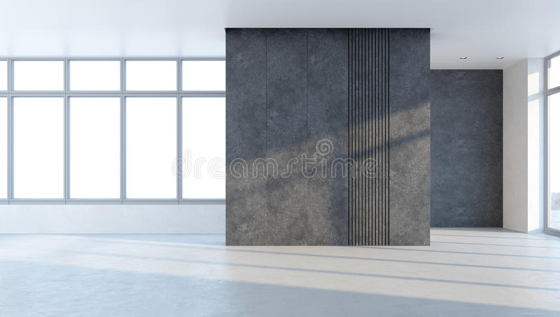 Empty office space royalty free illustration