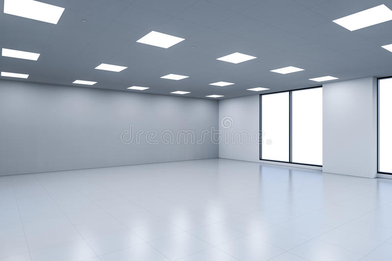 Empty office space stock image