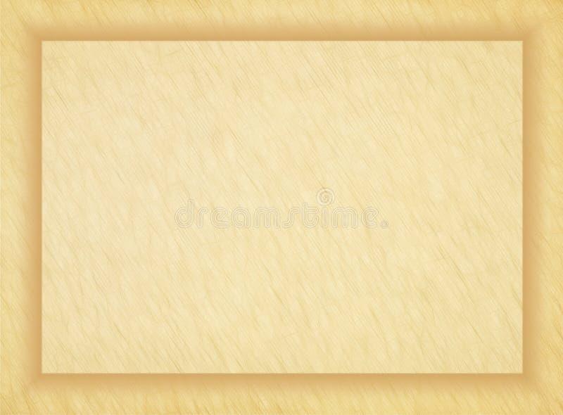 Empty old papyrus photo frame. royalty free illustration