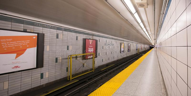 Empty old subway station in Toronto Canada royalty free stock image