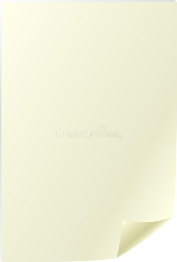 Free Empty Old Yellowish Page Sheet Stock Image - 7375531